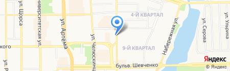 Чудо печка на карте Донецка