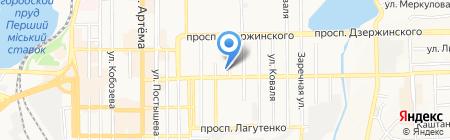 Меотида на карте Донецка
