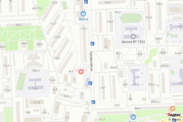 Ремонт телевизоров Улица Чусовская на яндекс карте