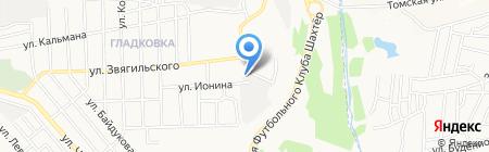 Промарсенал на карте Донецка
