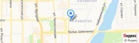 Франсуа на карте Донецка