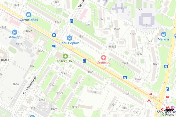 Ремонт телевизоров Улица Ферганская на яндекс карте