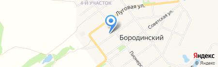 Администрация муниципального образования пос. Бородинский на карте Бородинского
