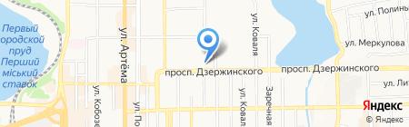 Атташе на карте Донецка