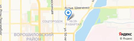 Электросвязь на карте Донецка