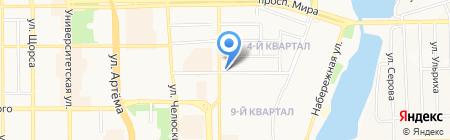 Автостоянка на Зелёной на карте Донецка