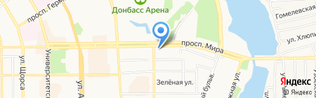 Фартнео на карте Донецка