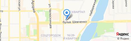 ТЕО Продукты на карте Донецка