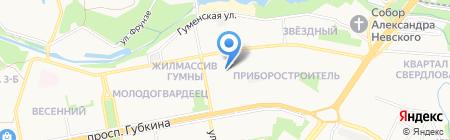 Детский сад №25 Троицкий на карте Старого Оскола