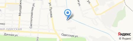 Лекса на карте Донецка