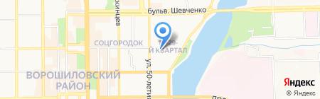 Рекон на карте Донецка