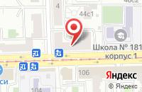 Схема проезда до компании Книжный Рай в Москве