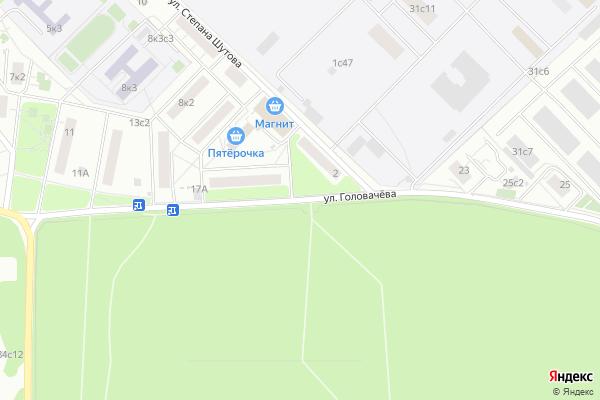 Ремонт телевизоров Улица Головачева на яндекс карте