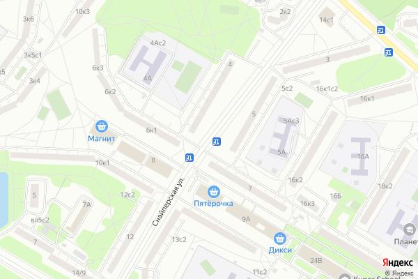 Ремонт телевизоров Улица Снайперская на яндекс карте