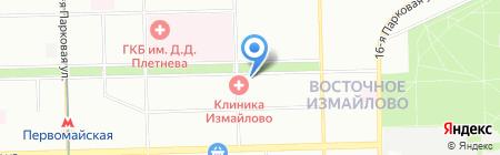 Мастерская по изготовлению ключей на Измайловском бульваре на карте Москвы