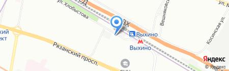 Олимпик на карте Москвы