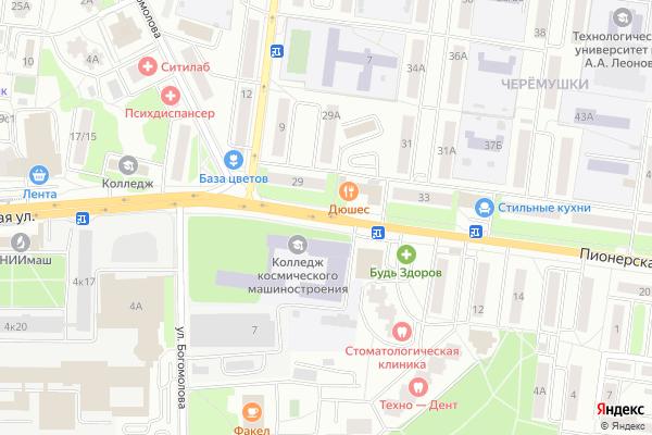 Ремонт телевизоров Улица Пионерская на яндекс карте