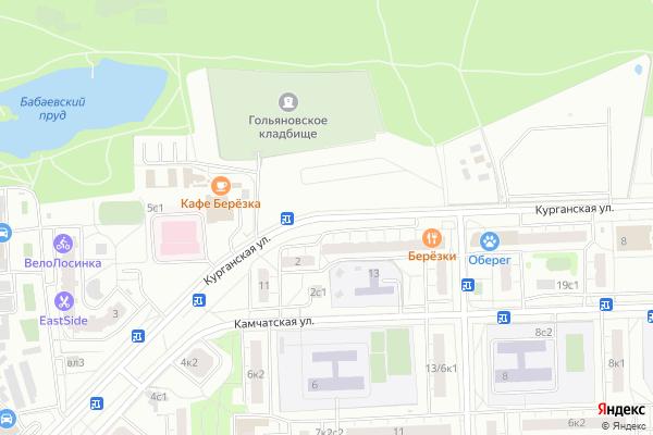 Ремонт телевизоров Улица Курганская на яндекс карте