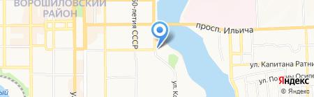 Энерджи стар на карте Донецка