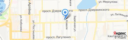 Картли на карте Донецка