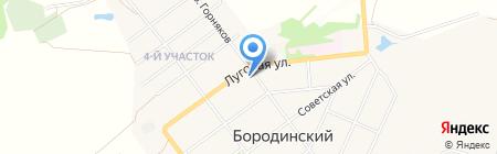 Магазин рыбы на ул. Гоголя на карте Бородинского