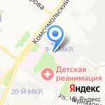 Белгородское бюро судебно-медицинской экспертизы на карте Старого Оскола