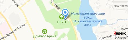 Светофорчик на карте Донецка