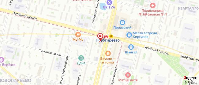 Карта расположения пункта доставки Москва Свободный в городе Москва