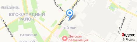 Общежитие Старооскольский техникум строительства на карте Старого Оскола