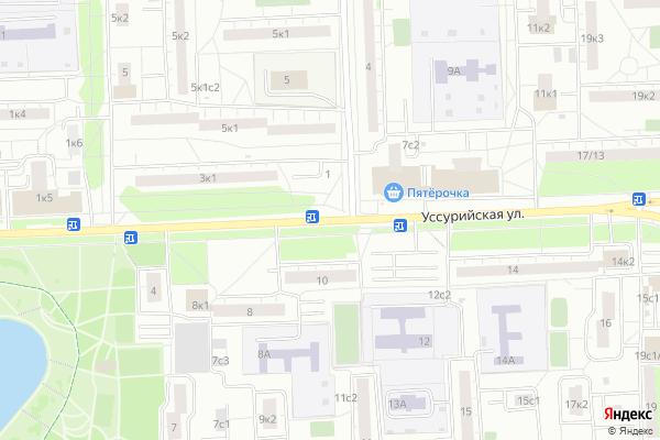 Ремонт телевизоров Улица Уссурийская на яндекс карте