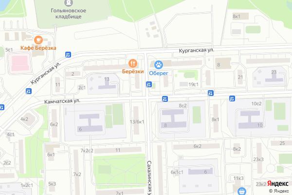 Ремонт телевизоров Улица Камчатская на яндекс карте