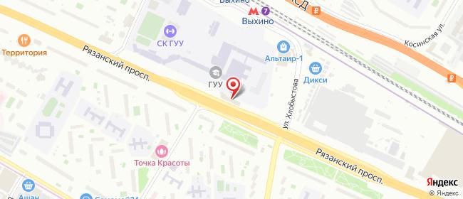 Карта расположения пункта доставки Москва Рязанский в городе Москва