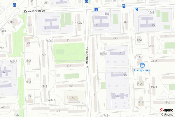 Ремонт телевизоров Улица Сахалинская на яндекс карте