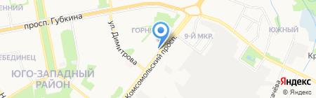 Ивановские ситцы на карте Старого Оскола