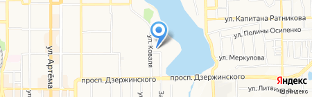 Джанэм на карте Донецка