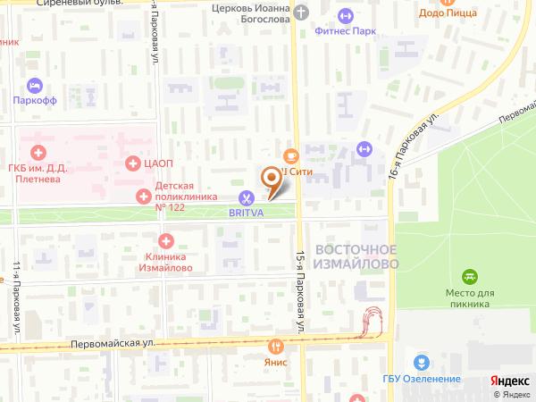 Остановка Измайловский бульв., 69 в Москве