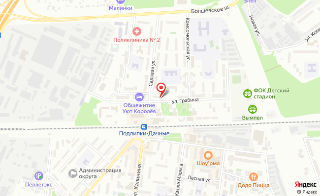 Карта расположения пункта доставки Пункт выдачи в городе Королев