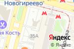 Схема проезда до компании Долина грез в Москве