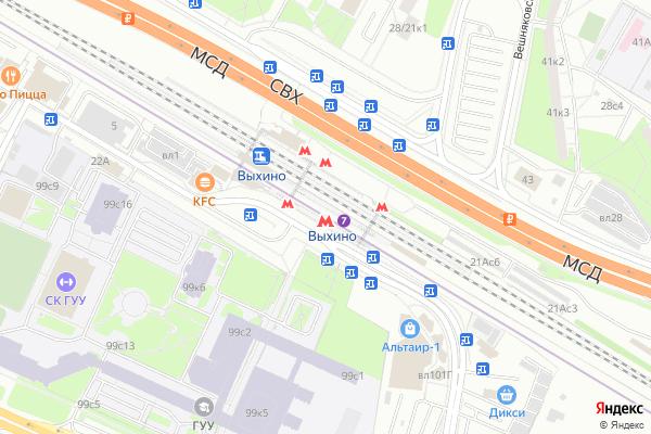 Ремонт телевизоров Метро Выхино на яндекс карте