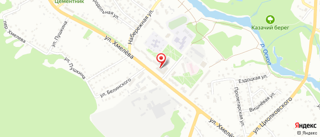 Карта расположения пункта доставки Халва в городе Старый Оскол