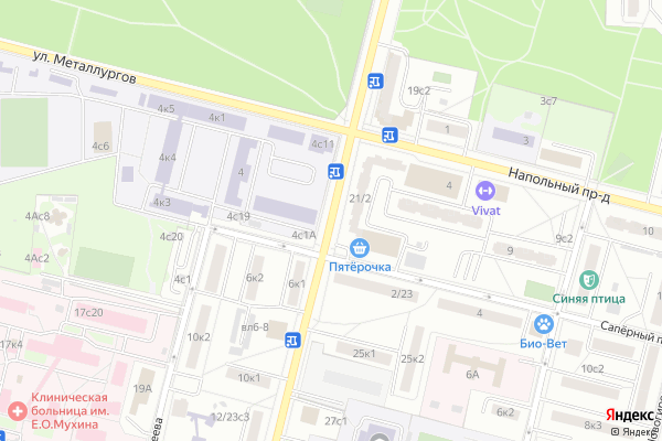 Ремонт телевизоров Свободный проспект на яндекс карте