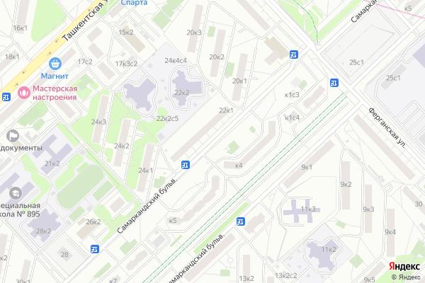Ремонт телевизоров Самаркандский бульвар на яндекс карте