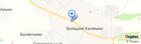 Автосервис на Центральной на карте Больших Калмыков