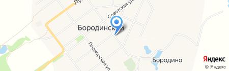 Бородинский на карте Бородинского