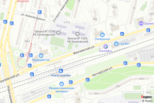 Ремонт телевизоров Улица Фрязевская на яндекс карте