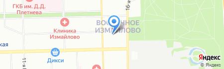 Бани из бруса на карте Москвы