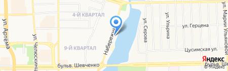 Ольвия Неон на карте Донецка
