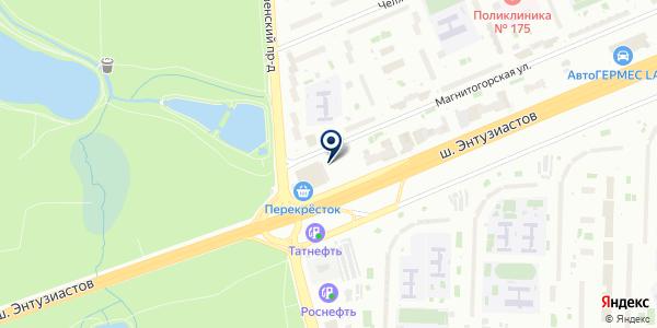 Шиномонтаж на карте Москве