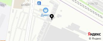 Автостоянка №97 на карте Москвы