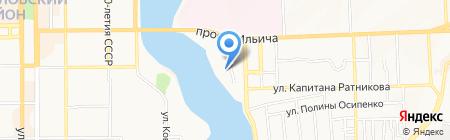 Истэк на карте Донецка